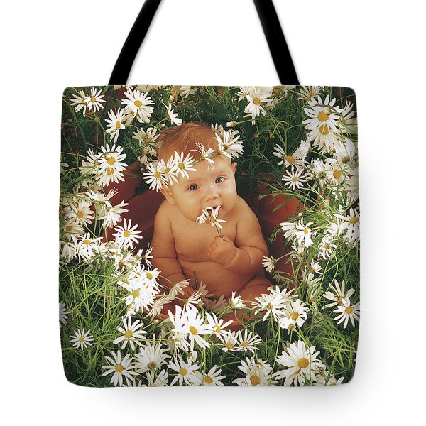 Daisies Tote Bag by Anne Geddes