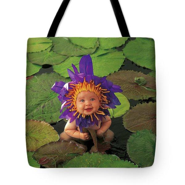 Waterlily Tote Bag by Anne Geddes