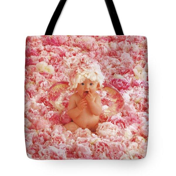 Peony Angel Tote Bag by Anne Geddes