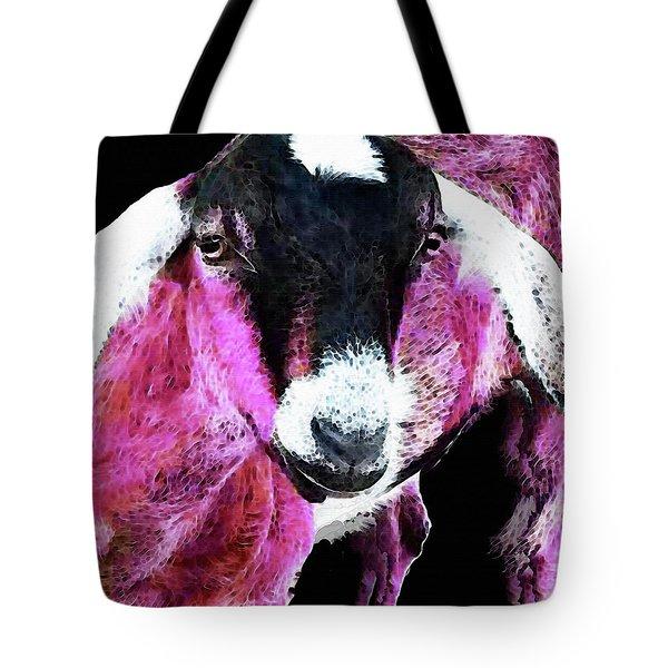 Pop Art Goat - Pink - Sharon Cummings Tote Bag by Sharon Cummings