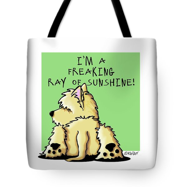 Cairn Terrier Sunshine Tote Bag by Kim Niles