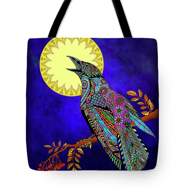 Electric Crow Tote Bag