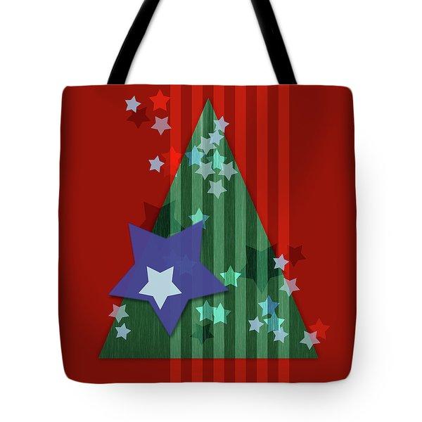 Stars And Stripes - Christmas Edition Tote Bag