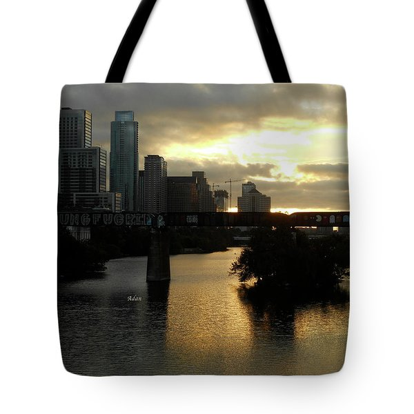 Gold Between The Clouds Tote Bag