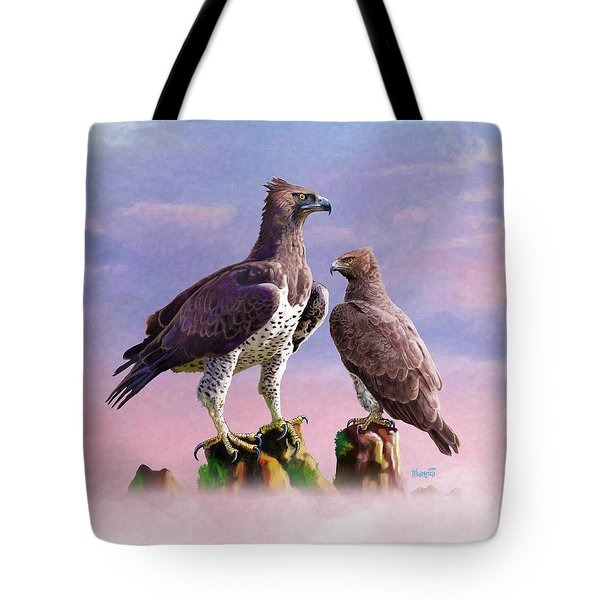 Martial Eagles Tote Bag