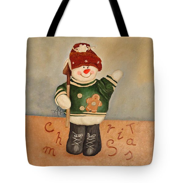 Snowman Junior Tote Bag