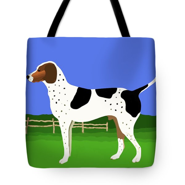 German Shorthaired Pointer In A Field Tote Bag by Marian Cates