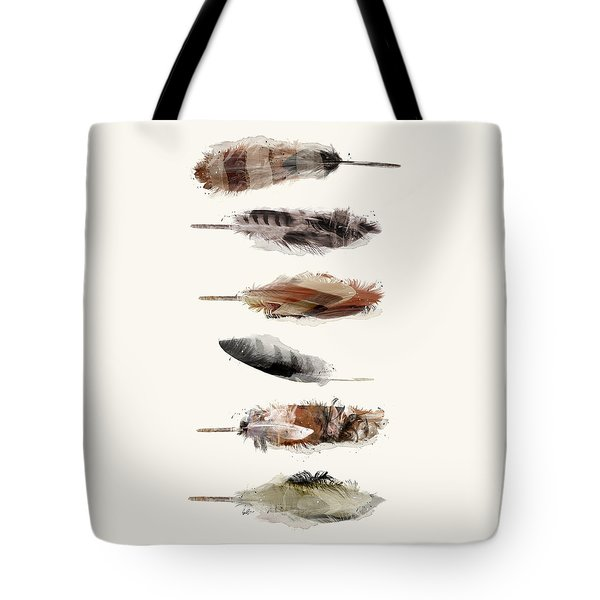 Free Fall Feathers Tote Bag