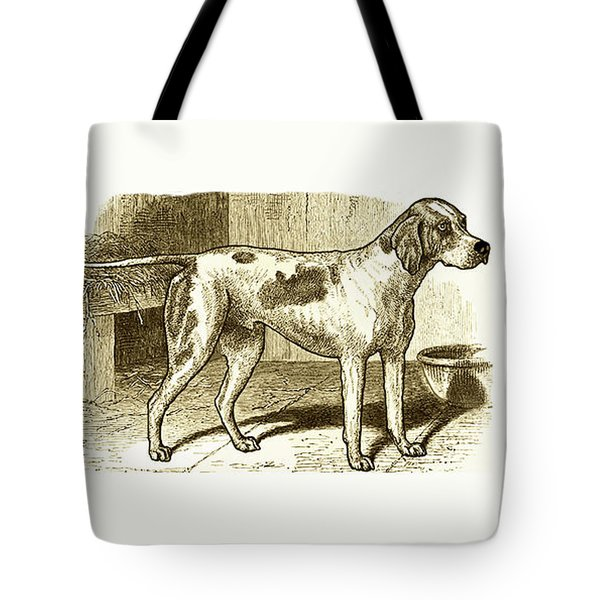 Vintage Sepia German Shorthaired Pointer Tote Bag by Marian Cates
