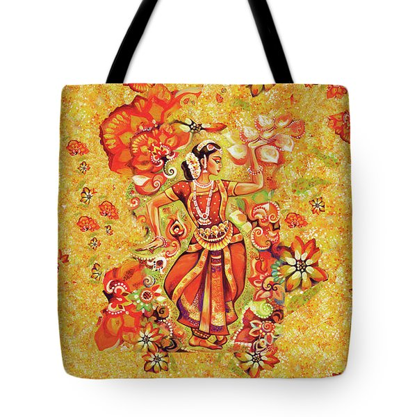 Ganges Flower Tote Bag by Eva Campbell