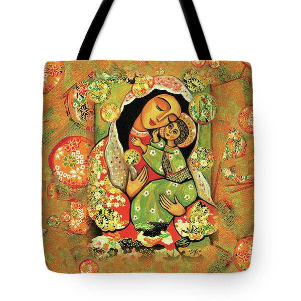 Madonna And Child Tote Bag by Eva Campbell