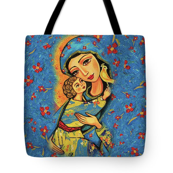 Mother Temple Tote Bag by Eva Campbell