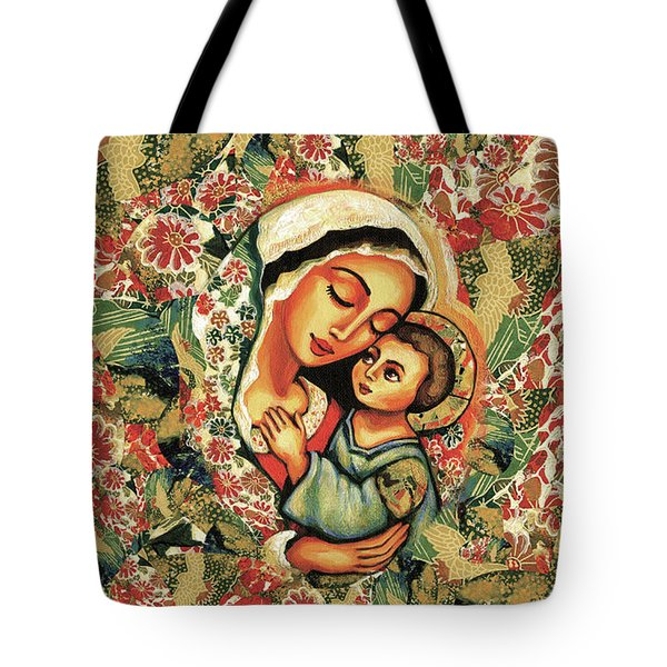 Tote Bag featuring the painting The Blessed Mother by Eva Campbell