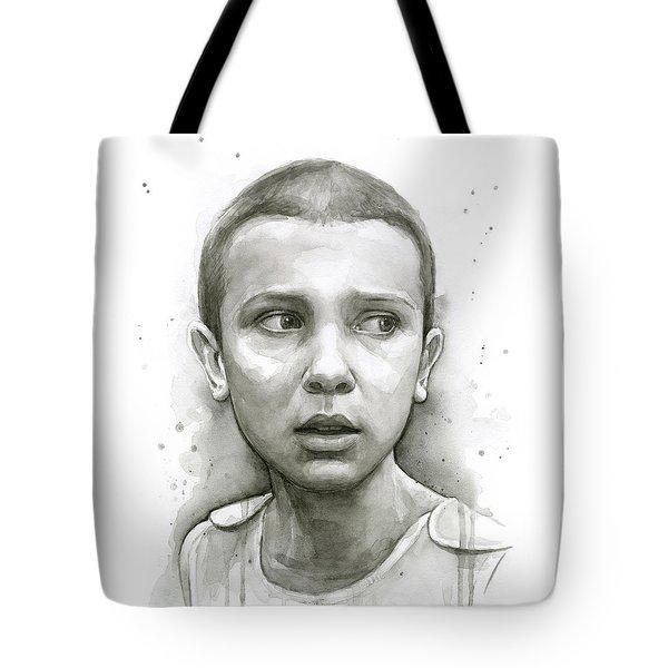 Stranger Things Eleven Upside Down Art Portrait Tote Bag