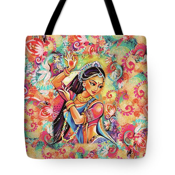 Tote Bag featuring the painting Dancing Of The Phoenix by Eva Campbell
