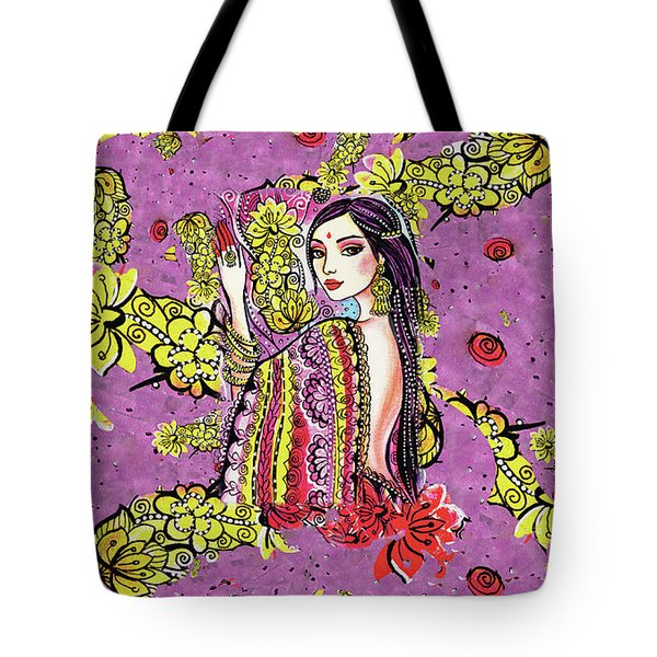 Tote Bag featuring the painting Soul Of India by Eva Campbell