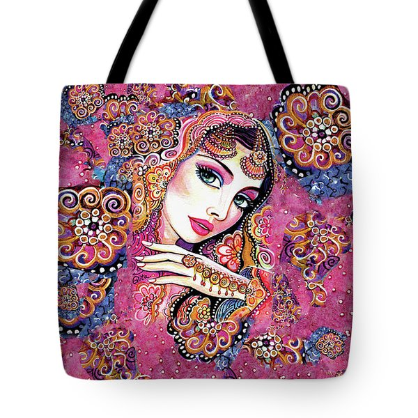 Tote Bag featuring the painting Kumari by Eva Campbell