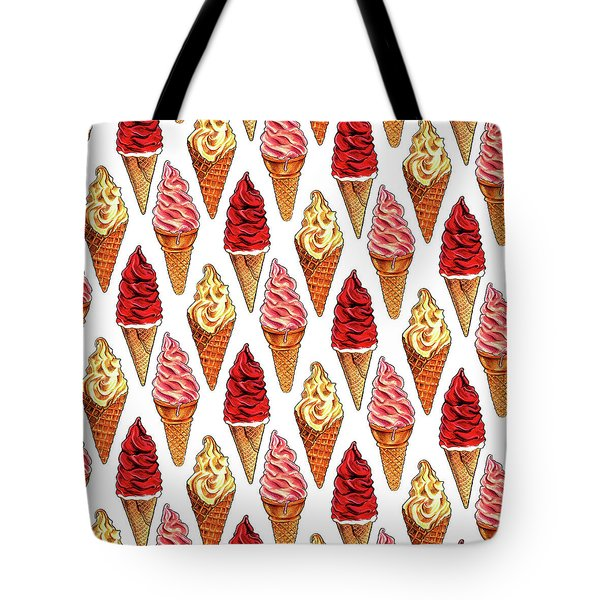 Soft Serve Pattern Tote Bag