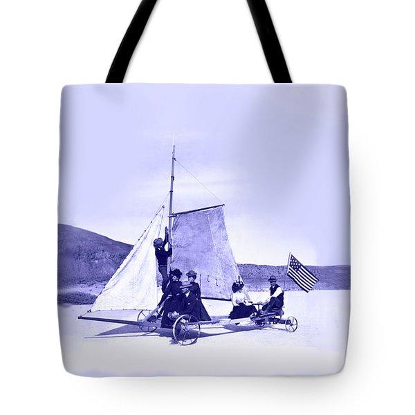 Vintage Ladies And Gentlemen Sail On The Desert Queen Tote Bag