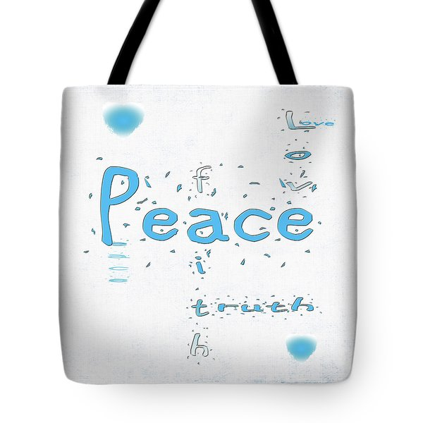Blue Peace Tote Bag by Linda Prewer