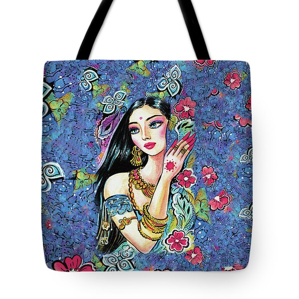 Tote Bag featuring the painting Gita by Eva Campbell