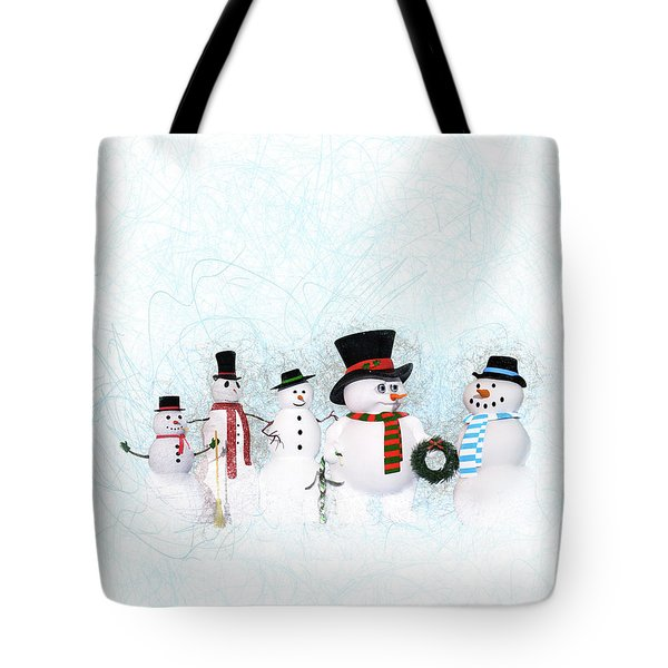 Snowmen Tote Bag by Methune Hively
