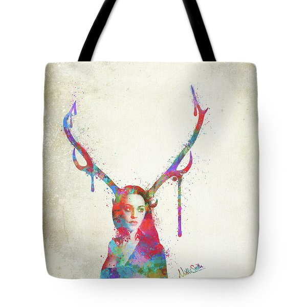 Song Of Elen Of The Ways Antlered Goddess Tote Bag