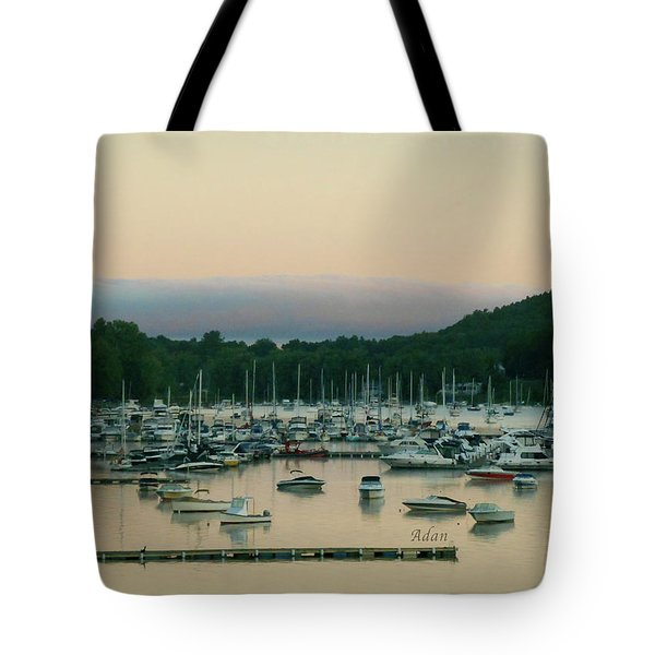 Sunrise Over Mallets Bay Variations - Three Tote Bag by Felipe Adan Lerma
