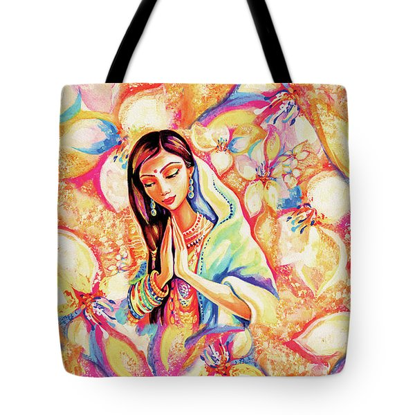 Tote Bag featuring the painting Little Himalayan Pray by Eva Campbell