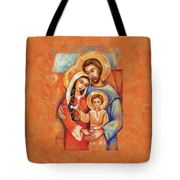 Tote Bag featuring the painting The Holy Family by Eva Campbell