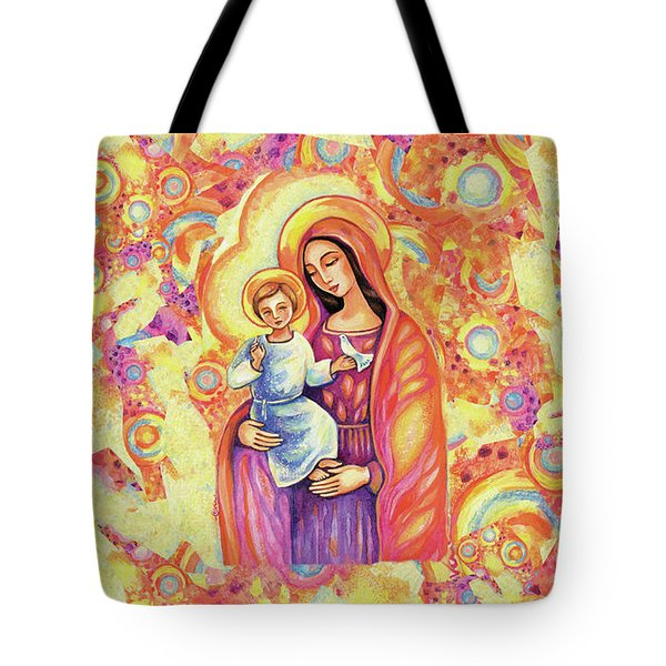 Tote Bag featuring the painting Blessing Of The Light by Eva Campbell