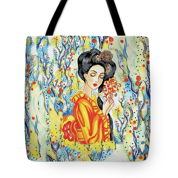 Tote Bag featuring the painting Harmony by Eva Campbell
