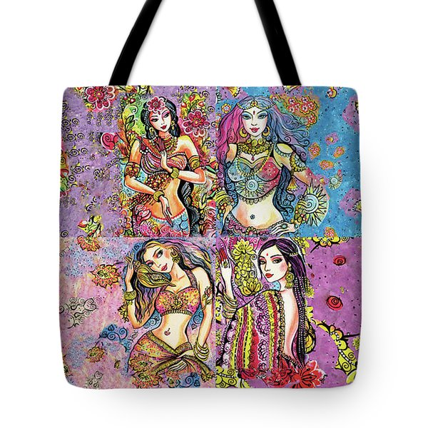 Tote Bag featuring the painting Eastern Flower by Eva Campbell