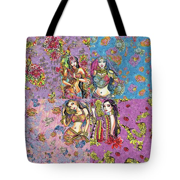 Eastern Flower Tote Bag