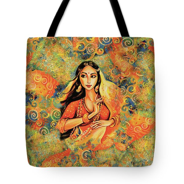 Tote Bag featuring the painting Flame by Eva Campbell