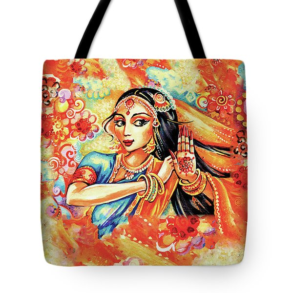 Tote Bag featuring the painting Sun Ray Dance by Eva Campbell