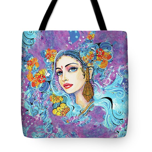 Tote Bag featuring the painting The Veil Of Aish by Eva Campbell