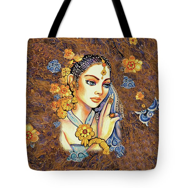 Tote Bag featuring the painting Amari by Eva Campbell