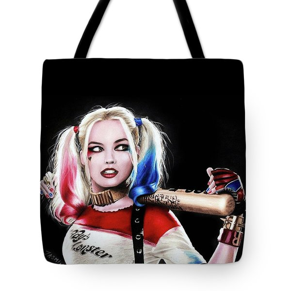Harley Quinn Drawing  Tote Bag by Jasmina Susak