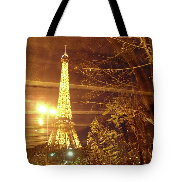 Eiffel Tower By Bus Tour Tote Bag by Felipe Adan Lerma