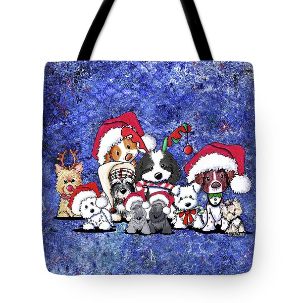 Kiniart Christmas Party Tote Bag by Kim Niles