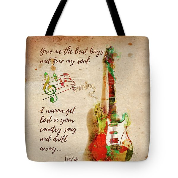 Tote Bag featuring the digital art Drift Away Country by Nikki Marie Smith