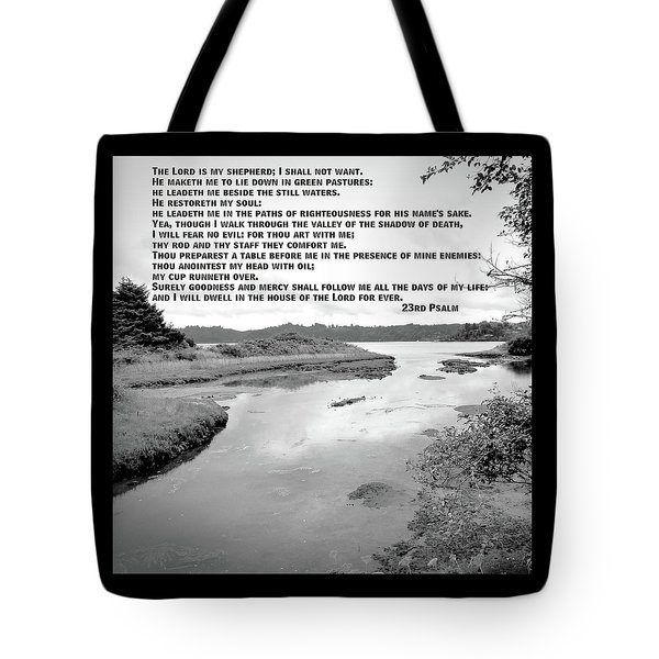 Beside Still Waters Tote Bag by Methune Hively