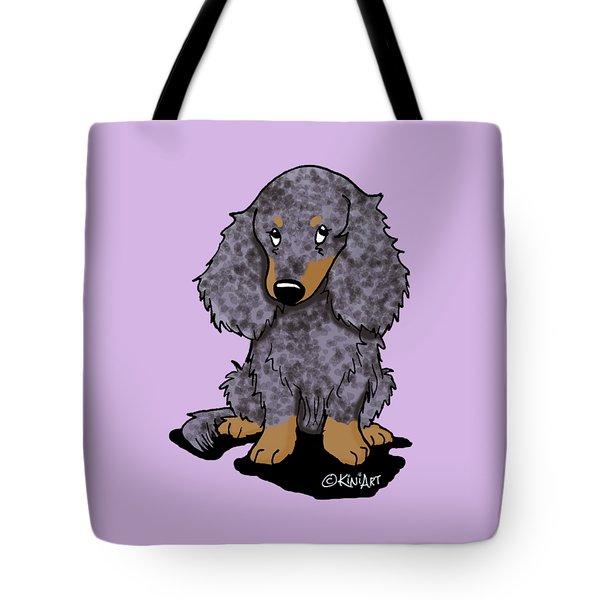Dapple Doxie Tote Bag by Kim Niles