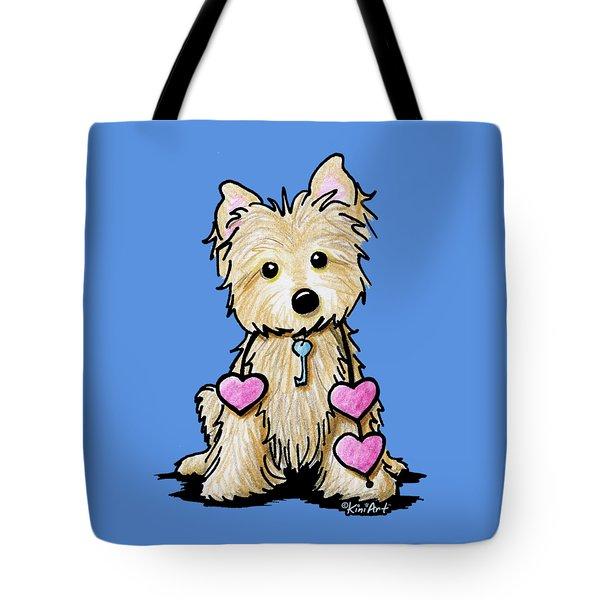 Heartstrings Cairn Terrier Tote Bag by Kim Niles
