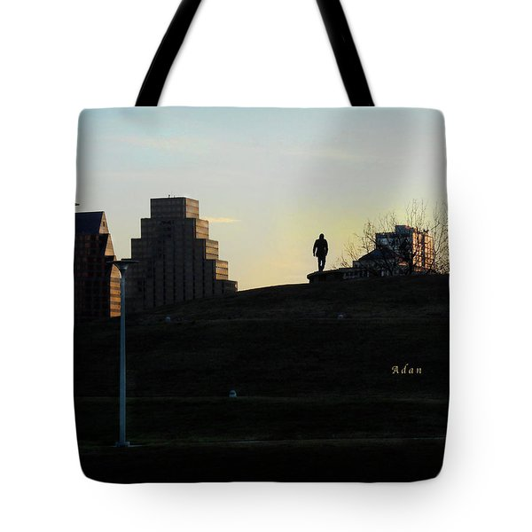 Birds And Fun At Butler Park Austin - Silhouettes 3 Tote Bag