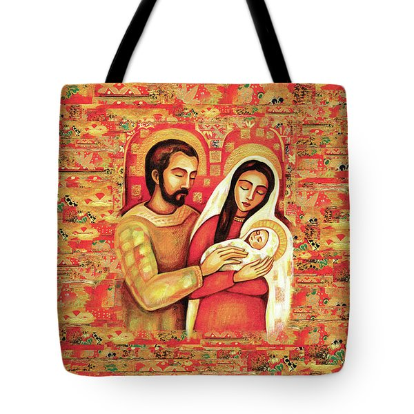 Tote Bag featuring the painting Holy Family by Eva Campbell