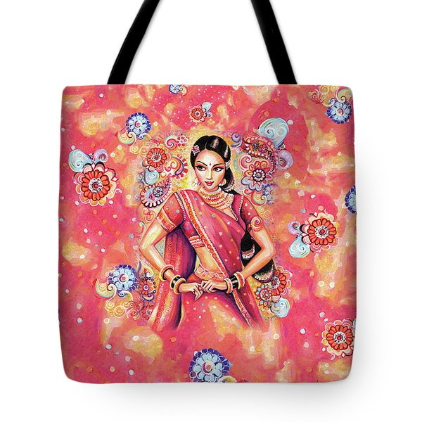 Tote Bag featuring the painting Devika Dance by Eva Campbell