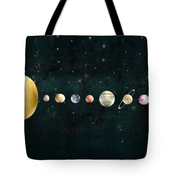 Tote Bag featuring the painting The Solar System by Bri B