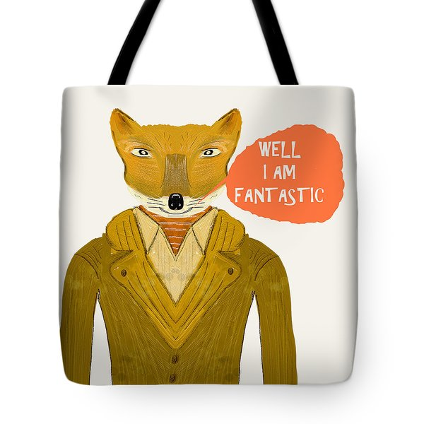 Tote Bag featuring the painting Well I Am Fantastic by Bri B
